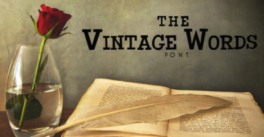 The Vintage Words Font
