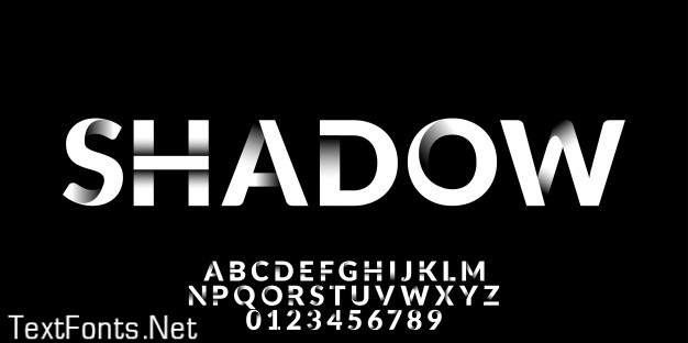White shadow effect font