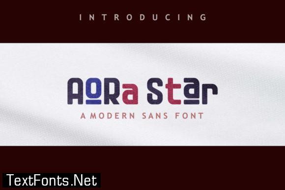 Aora Star Font