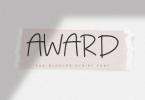 Award - The Blogger Script Font