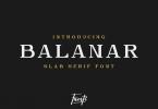 Balanar Font