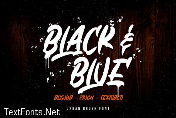 Black & Blue Font
