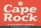 CA Cape Rock Font