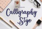 Calligraphy Stye Font