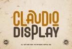 Claudio - Display Font