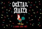 Cocktail Shaker Font
