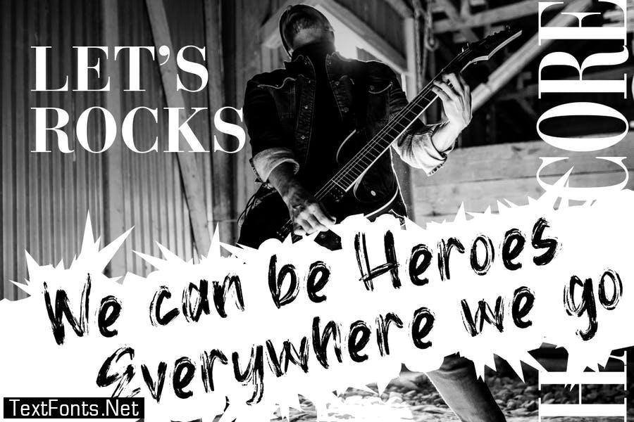 Death Rock Grunge Typeface