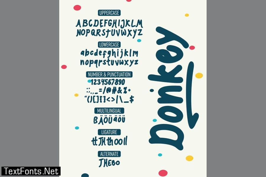 Donkey - Playful Font