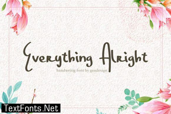 Everything Alright Font
