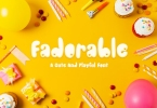 Fadorable - Cute And Playful Font