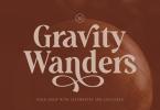 Gravity Wanders - Stylish Bold Serif