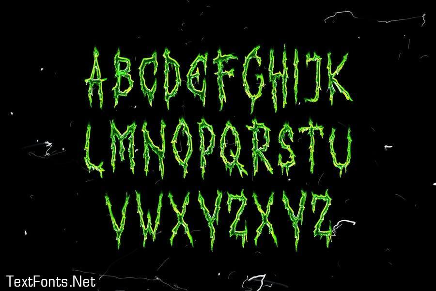 Horror Script Brush font
