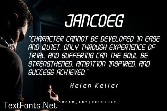 Jancoeg Font