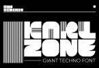 KARL zone - Giant Techno Sport font