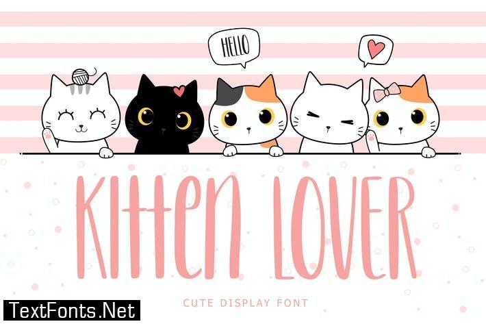 Kitten Lover Cute Display Font