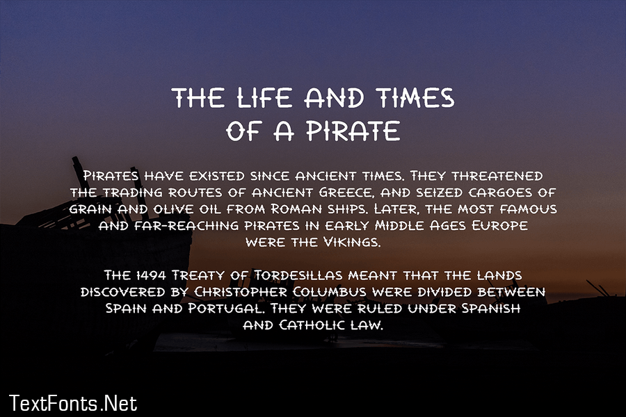 La Pirata - pirate font