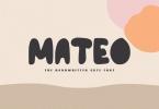 Mateo - The Handwritten Cute Font