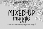 Mixed-Up Maggie Font