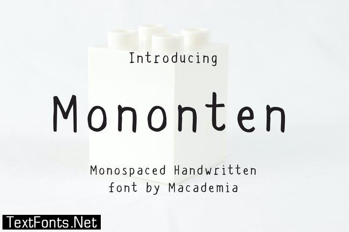 Mononten - Monospaced