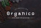 Organico - casual organic font