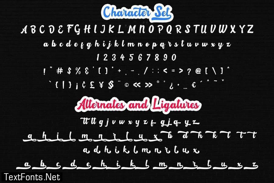 Rotterin Script - Layered Font