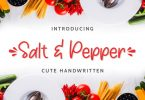 Salt & Pepper Font