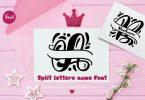 Split Letter Name Font