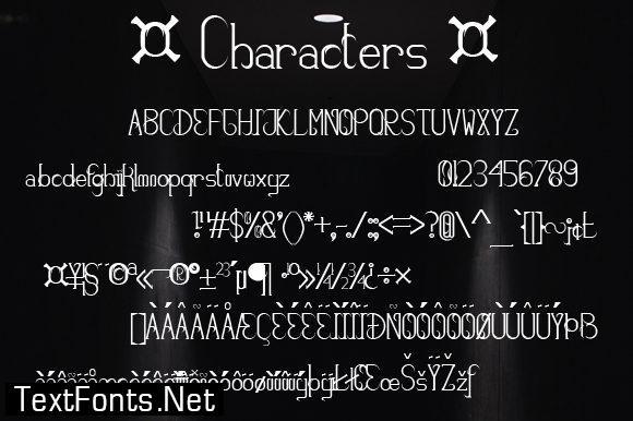 The Dark Sky Font