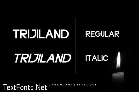Trijland Font