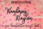 Wandering Waylon Font