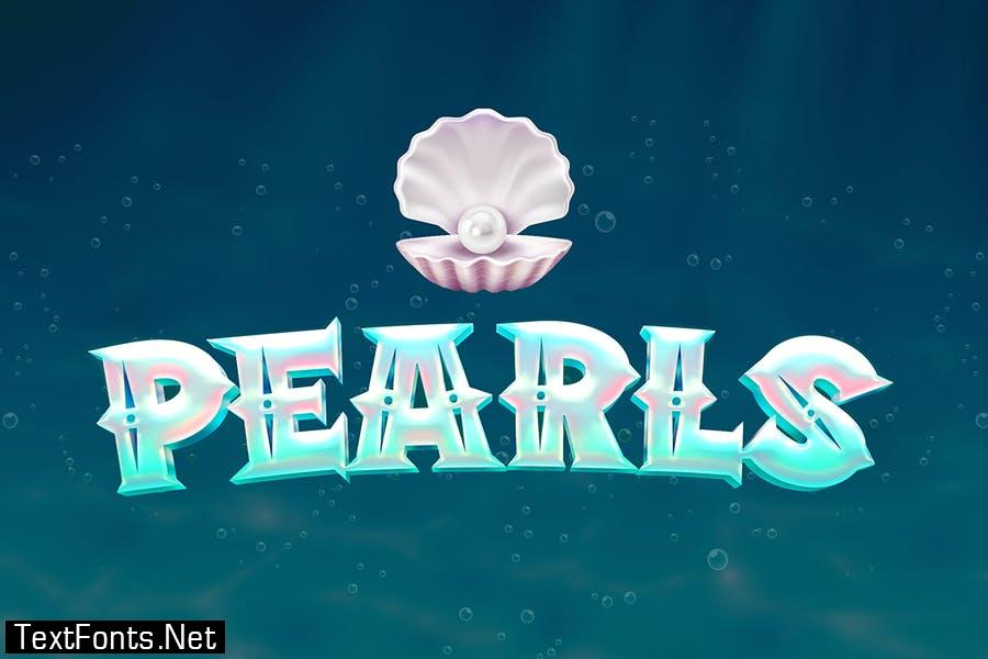 White Pearl - Pirate game font
