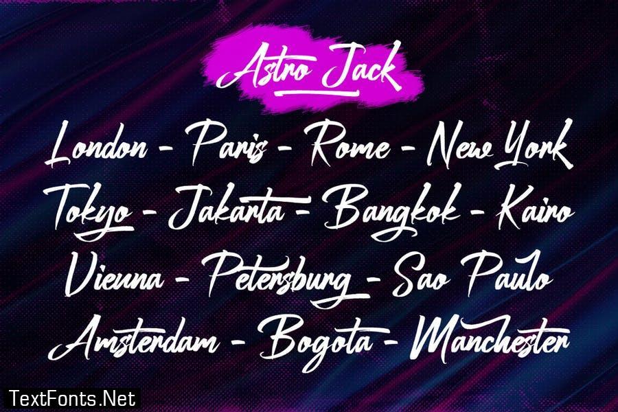 Astro Jack - Handwritten Font