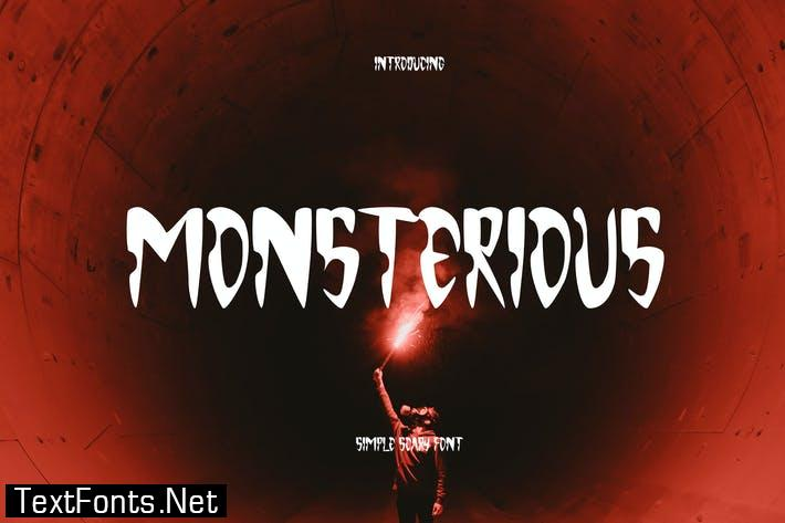 Monsterious - Scary Font GL