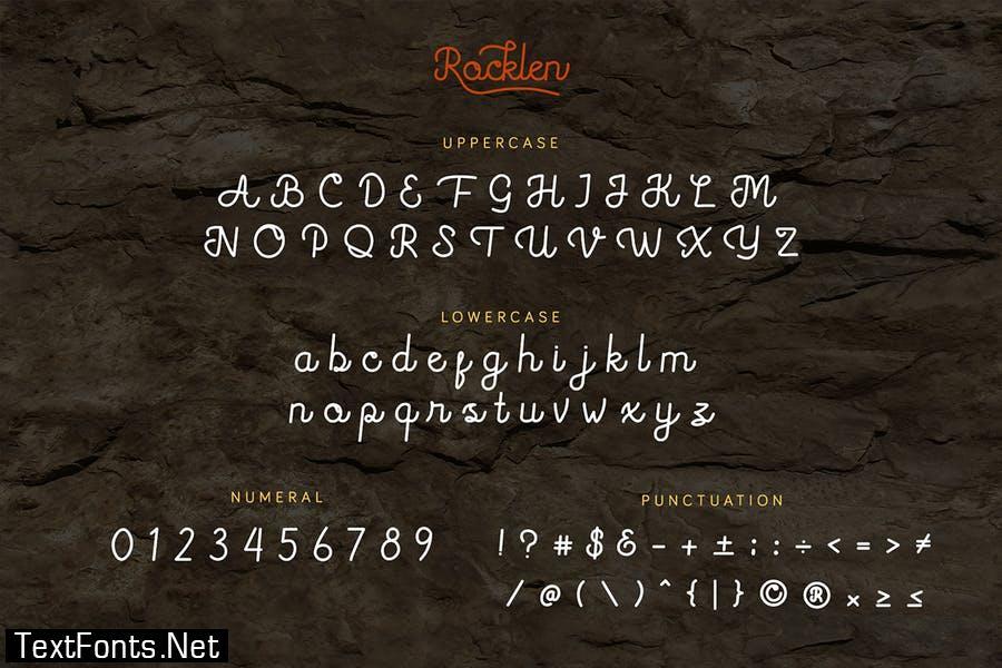 Rocklen - Monoline Script