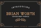 Brian Worth Font