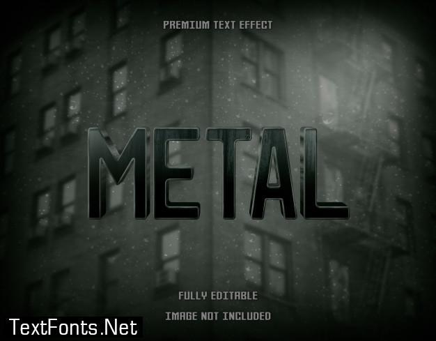 Metal green 3d text effect