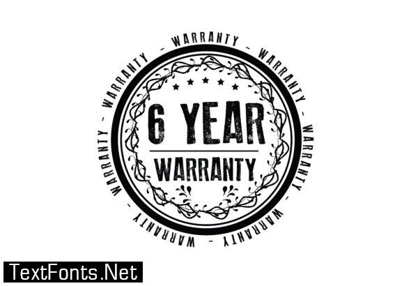 6 Year Warranty - Typography Graphic Templates