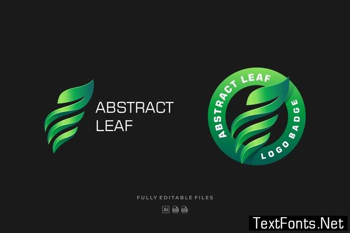 Abstract Leaf Colorful Logo Template