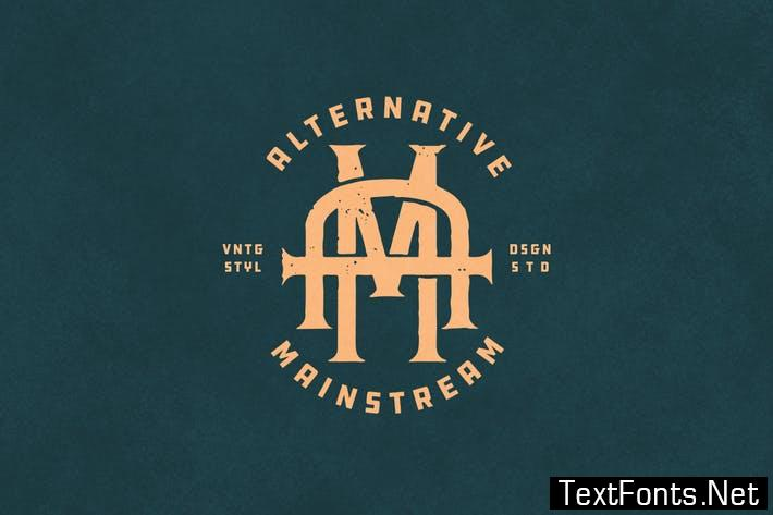 AM Vintage Monogram Logo