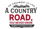 An Argument is Like a Country Road - Typography Graphic Templates