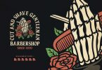 Barbershop Hand drawn Badge Logo