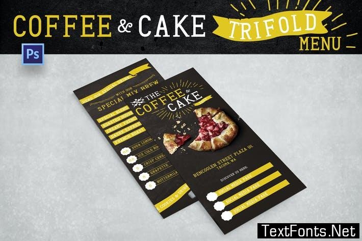 Blackboard Trifold Coffee Shop Menu FVRC7K