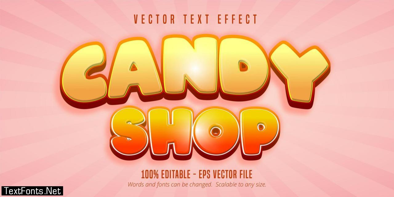 Candy shop text
