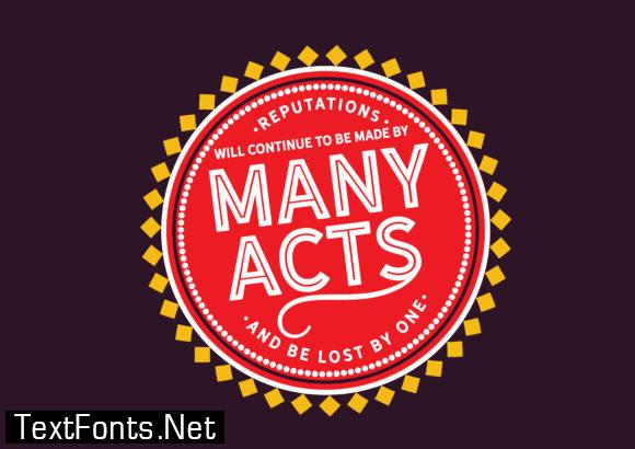 Continue to Be Made by Many Acts - Typography Graphic Templates