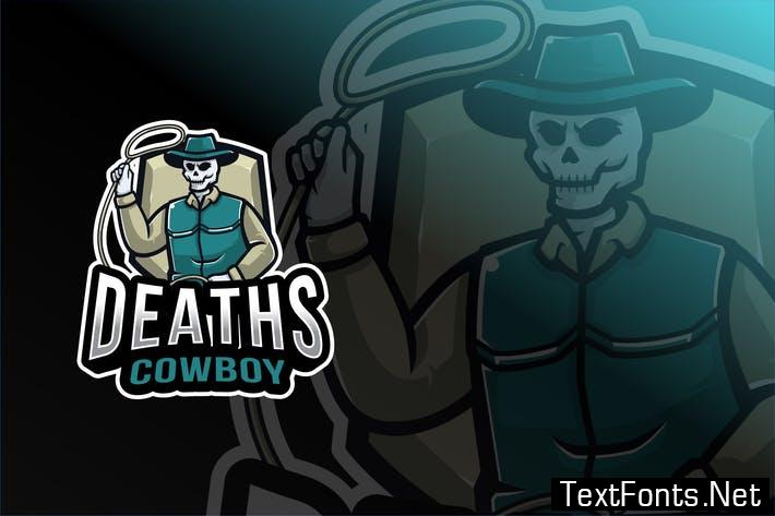 Deaths Cowboy Esport Logo Template