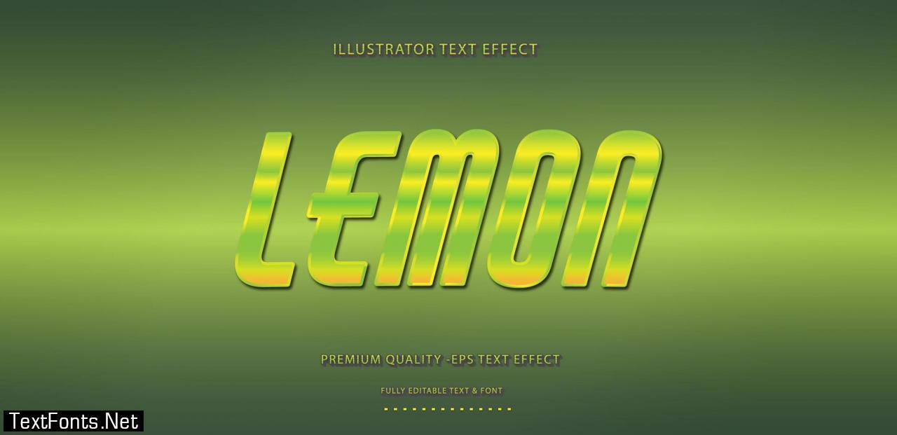 Lemon Green Yellow Text Effect