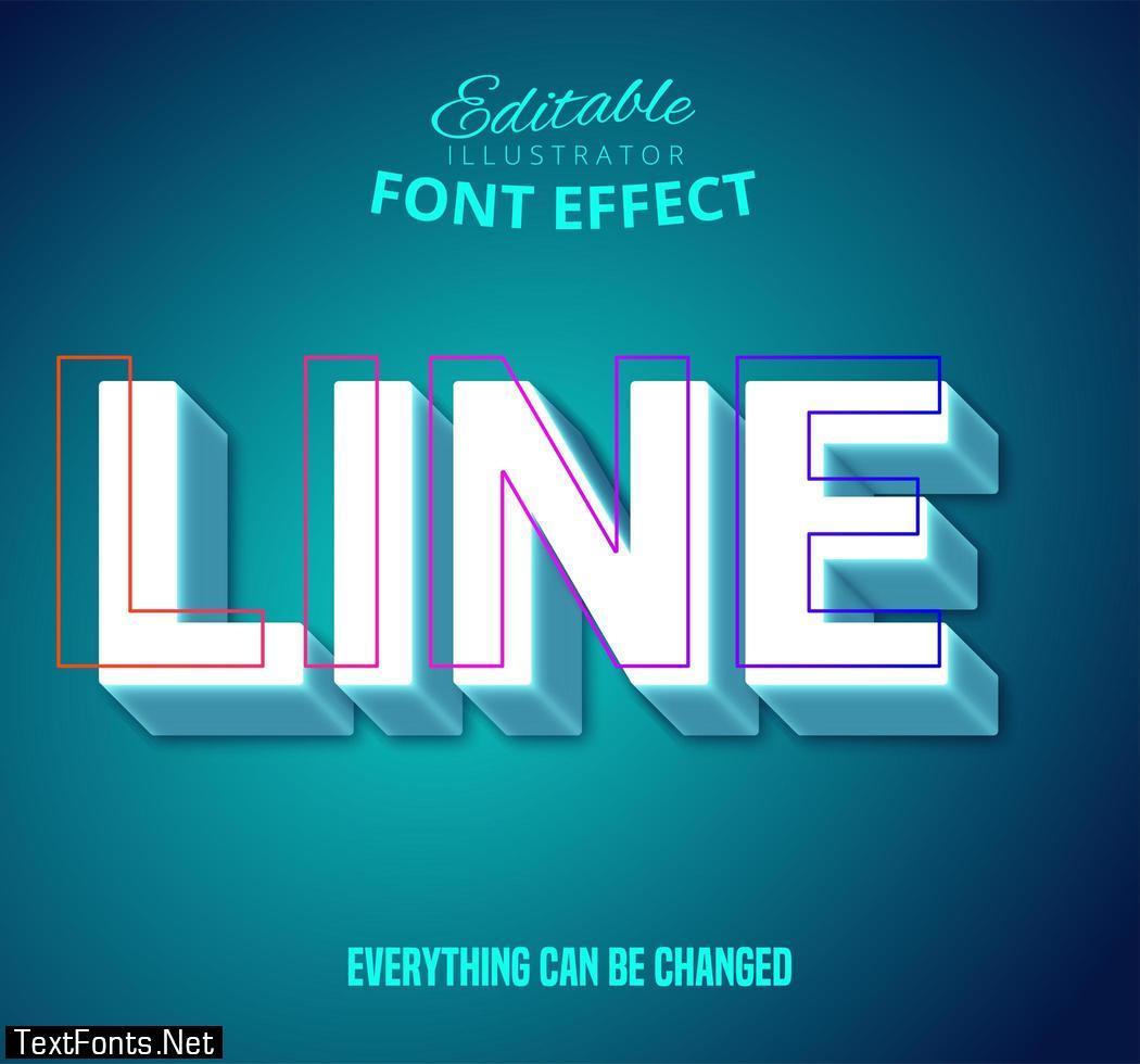 Line text, editable text style