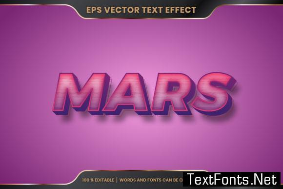 Mars Word, Text Effect Editable Style