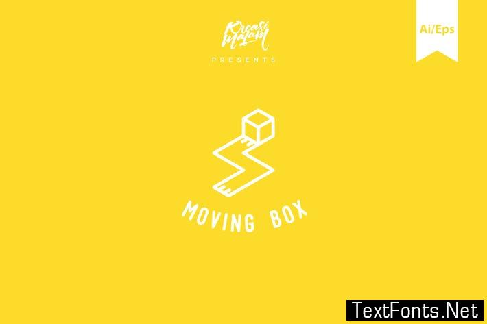 Moving Box Logo Template