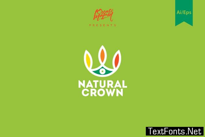 Natural Crown Logo Template